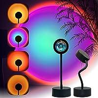 Sunset Projection Lamp LED Night Light, 360 Degree Rotation Sunset Projector Light Floor Lamp, USB Romantic Visual…