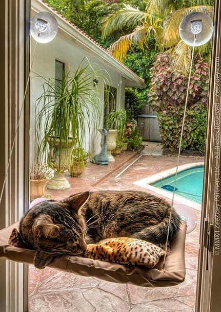 Highdas Ventana del gato montado cama admiten camas de la hamaca de ...