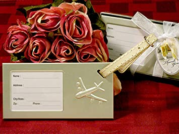 Amazon.com: Come Fly With Me Luggage Tag Wedding Favors: Toys & Games