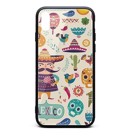 official photos 86774 73e74 Amazon.com: Cool Phone Case for iPhone Xs Mexican Cactus Llama Skull ...