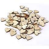 Tinksky Dischi Log fette legno per bricolage fai da te decorazioni, 30mm, confezione da 50 (colore di legno)