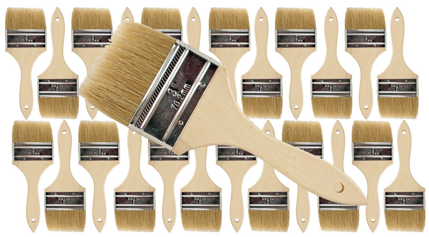 Pro Grade - Chip Paint Brushes - 24 Ea 3 Inch Chip Paint Brush by Pro Grade