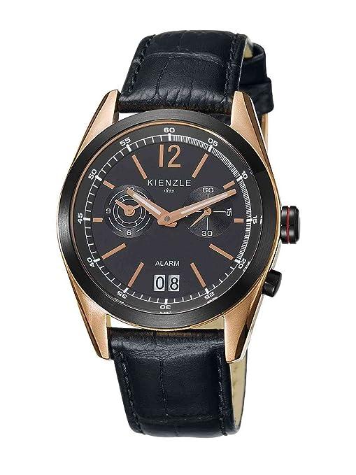 Kienzle K3071143031-00083 - Reloj analógico de cuarzo para hombre con correa de piel, color negro: Amazon.es: Relojes