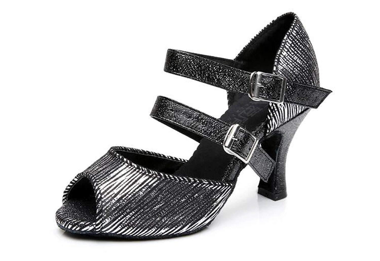 Yingsssq Chaussures de Danse Latine pour Femme Salsa/Tango/Thé/Samba/Modern/Chaussures de Jazz / Sandales Talons Hauts, Redheeled8cm-UK4.5 / EU36 / Jazz Our37 UK3/EU33/Our34|Blackheeled7.5cm 31eb12