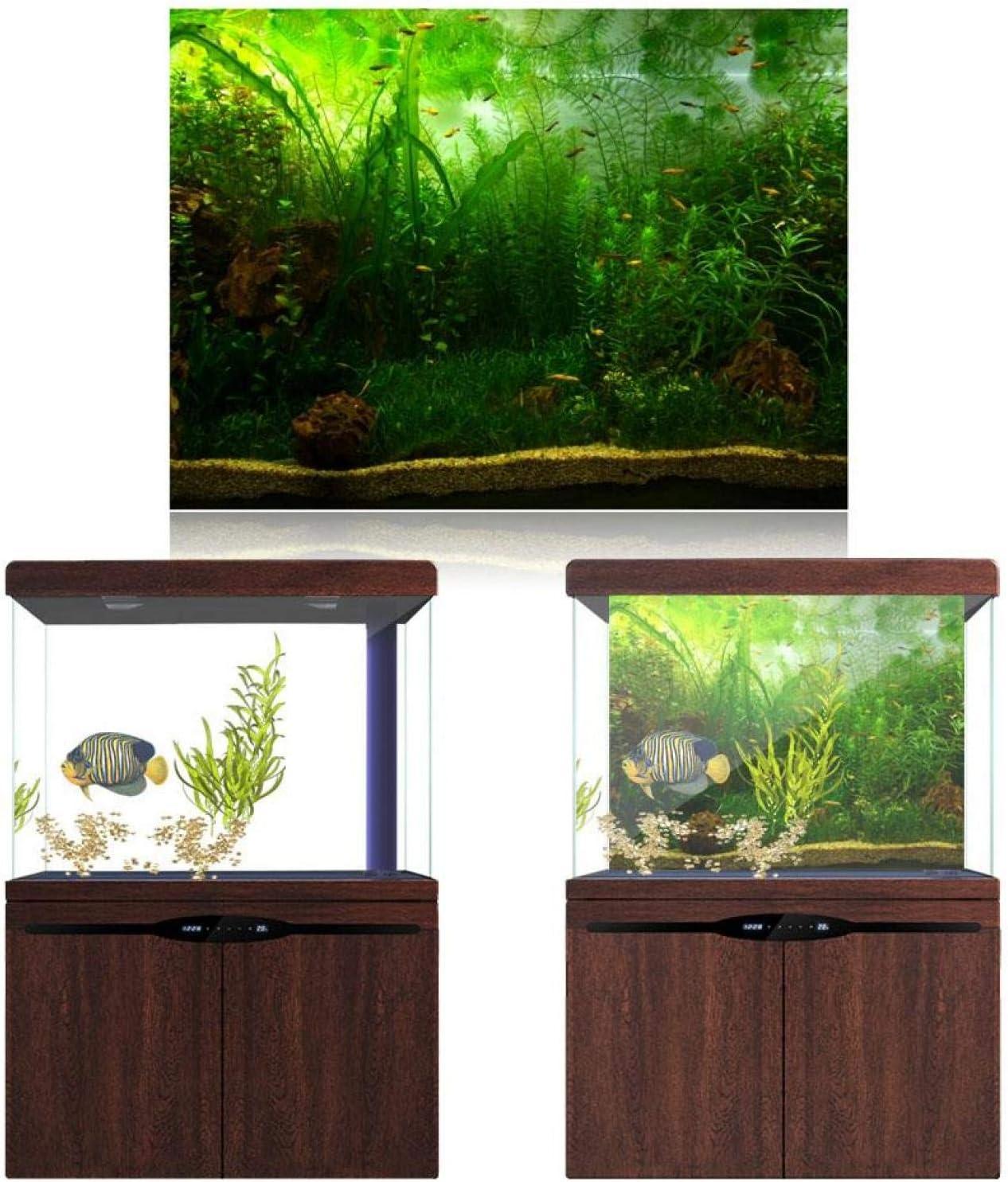 Zetiling Water Grass Aquarium Poster, Fish Aquarium Background, Self Adhesive Design Fish Tank Background Decor Paper Backgrounds for Fish Tank and Aquarium Decoration(9150cm)