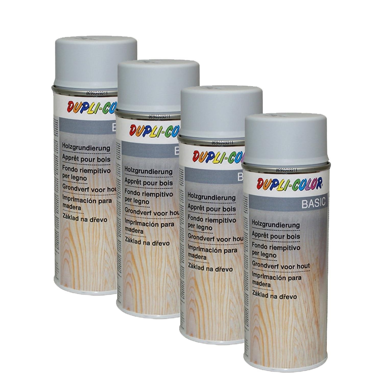 4x Dupli Color Holzgrundierung Grau Holz Holzoberfläche Lackflächen