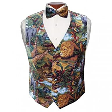 d304ce57f052 Amazon.com: King of the Jungle Tuxedo Vest and Bow Tie: Clothing