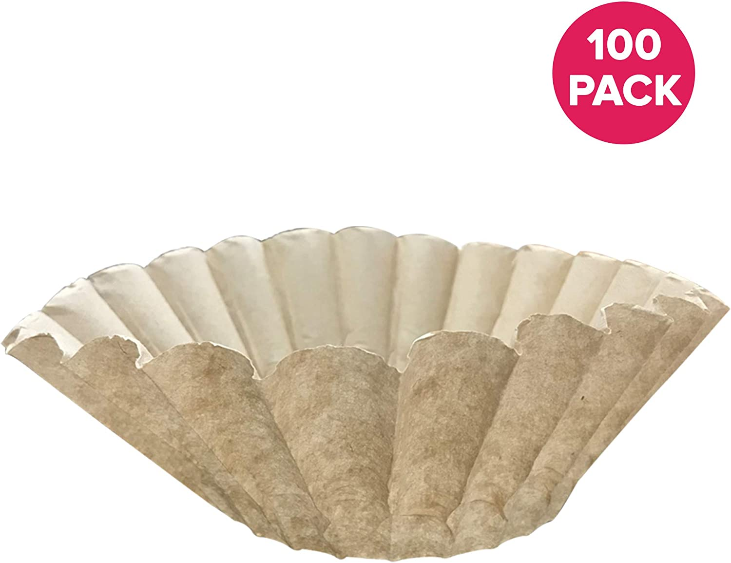 denken Crucial 100Pk Replacement für Bunn Unbleached Paper Coffee Filter Fits 12 Cup Commercial Coffee Brewers, Compatible mit Teil # 1M5002 & 20115.0000
