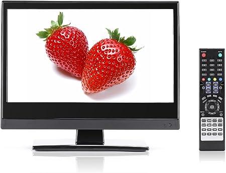 Televisor de pantalla plana pequeño, perfecto para cocina, TV LED de 13,3 pulgadas, reloj HDTV en cualquier lugar, para cocina, TV, RV, TV de oficina y más, canales locales HD gratuitos, TV