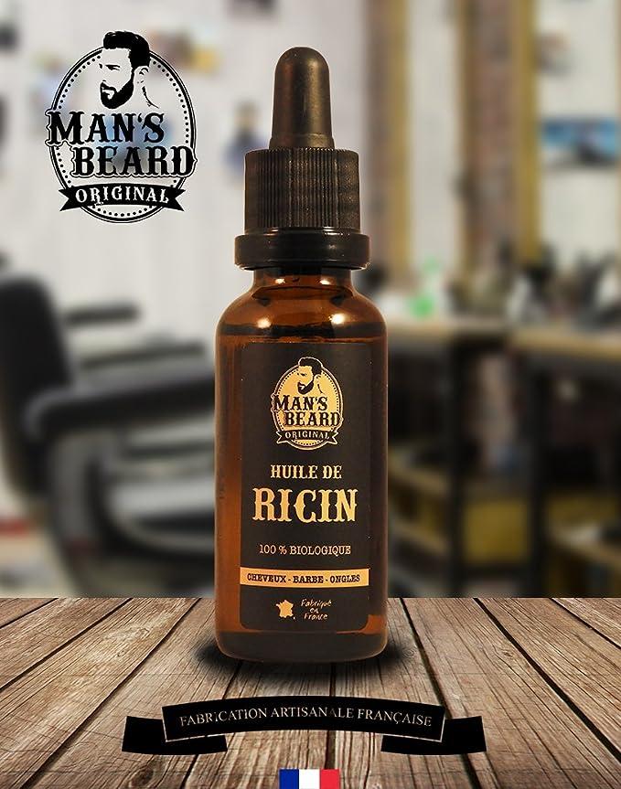 Mans Beard - Aceite de ricino 100 % orgánico, puro y natural - 30 ml - Para el cuidado de la barba, el cabello, las uñas: Amazon.es: Salud y cuidado ...