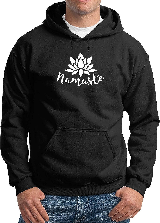 Black MTNACLOTHING Namaste Lotus Yoga Meditation/_MA3473 Hoodie Hoody Sweater