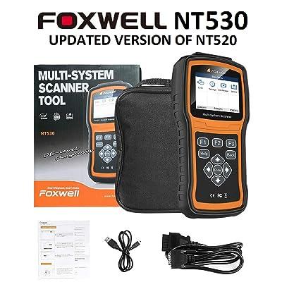 FOXWELL NT530 for BMW Multi-System OBD2 Diagnostic Scanner Read Erase Error Codes: Automotive