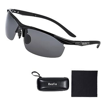 Gafas de Sol para Hombre, Besfia UV400 Gafas de Sol Polarizadas Deportivas Polarizadas Para Conducción