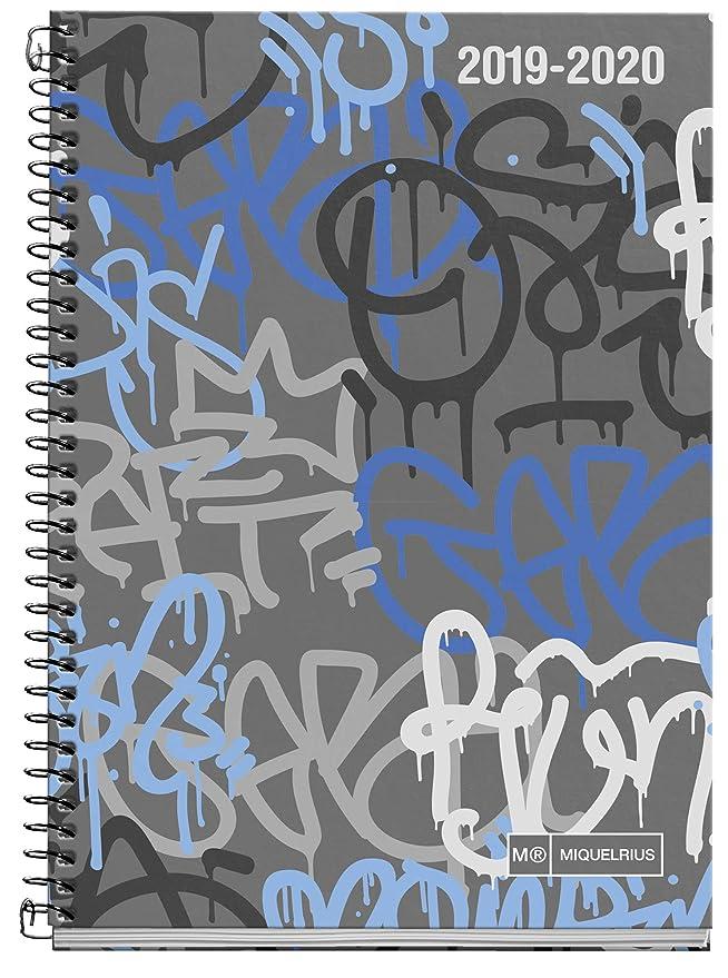 Miquelrius agenda escolar 2019 2020 Día Página Street Art Euskera 117x174 mm