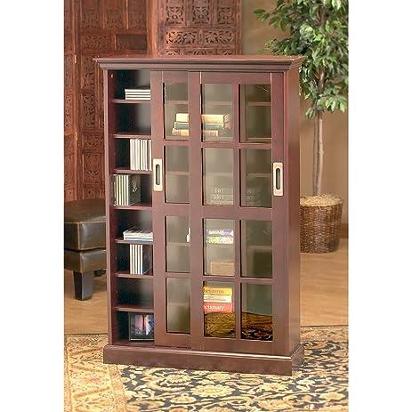 Amazon.com: Sliding Door Media Cabinet: Kitchen & Dining