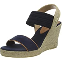 Tommy Hilfiger New Tommy Basic Opened Toe Wedge, Sandalias con Punta Abierta Mujer