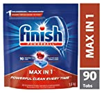 Finish Dishwasher Detergent, Max in 1 Powerball Super Charged, Fresh, Mega Value, 90 Tablets, Powerful Clean Everytime