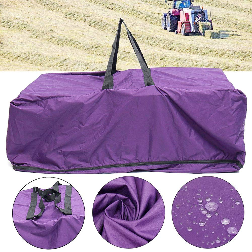 Rose-only Hay Bale Bag, Extra Large Nylon Horse and Livestock Hay Bale Carry Bags, Foldable Portable Durable Waterproof Hay Bale Storage Bags with Zipper by Rose-only