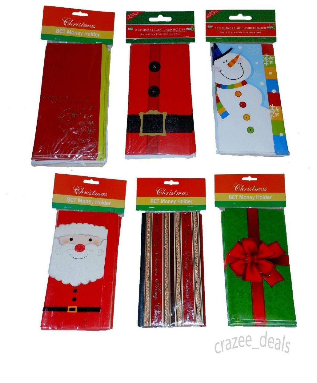 Amazon.com : Lot Of 96 Piece Christmas Card Money Card Holders ...