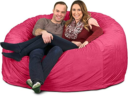ULTIMATE SACK 6000 6 Ft. Bean Bag Chair: Giant Foam-Filled Furniture