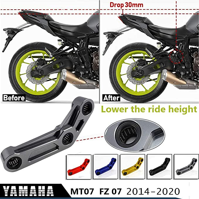 CNC Rear Suspension Lowering Links Kit For YAMAHA MT-07 FZ-07 XSR700 2014-2020