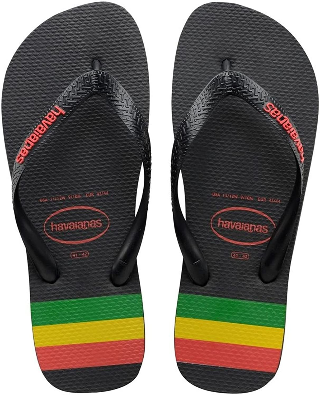 7bc5b69884f48 Mens Havaianas Top Stripes Logo Summer Sandals Lightweight Flip Flops 85%OFF