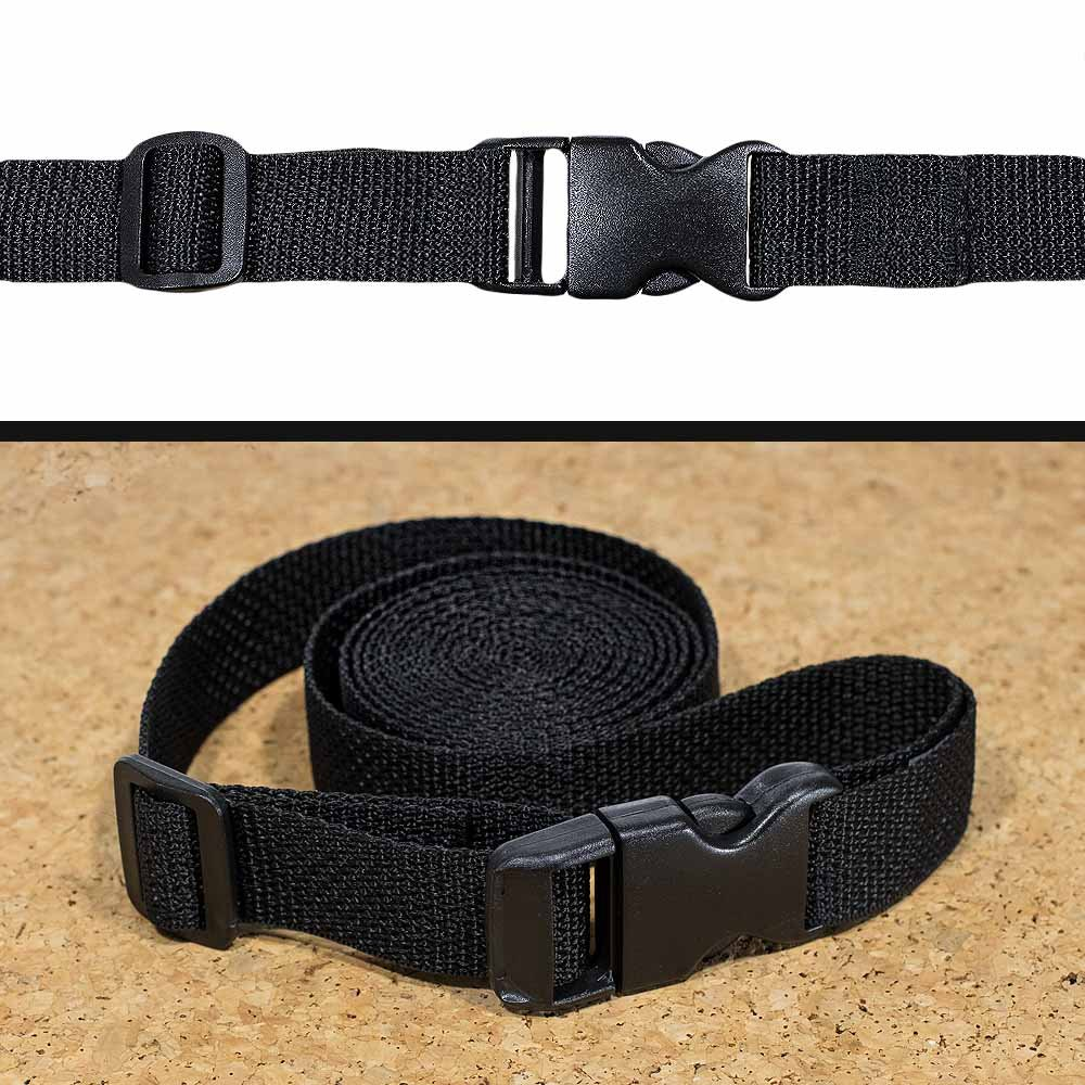 1 Compatible 10 Yard Roll of 1 Inch Wide Black Nylon Web Strapping West Coast Paracord 21 Piece Set of 10 Black Plastic 1 Inch Flat Side Release Buckles 10 Tri-Glide Adjustment Clips