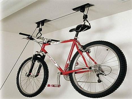Petrolscooter Bicicleta Bici Techo Estante de Almacenaje Polea ...