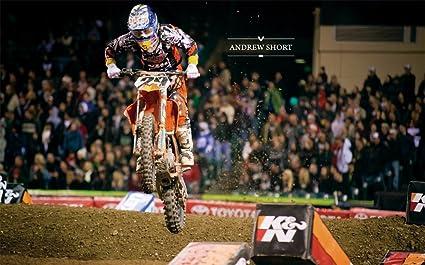 """MOTOCROSS DIRT BIKE JUMP SPORT PHOTO ART PRINT POSTER 21/""""x13/"""" 103"""