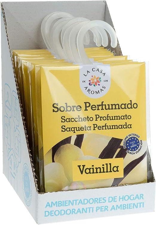 Set de 12 Sobres Perfumados, Bolsitas Aromáticas de Vainilla, Saquitos para el Armario, Cajón, Ropa de Bebé, Zapatero, Maleta: Amazon.es: Hogar