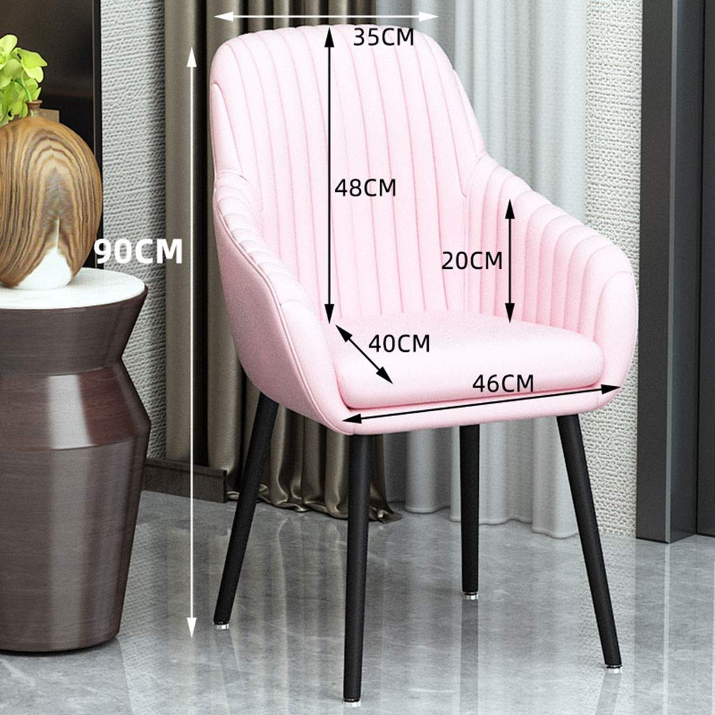 HEJINXL kök matstol mjuk flanell ryggstöd bänk vardagsrum hörnstol stål ben badkarsstol set med 4 (färg: F) D