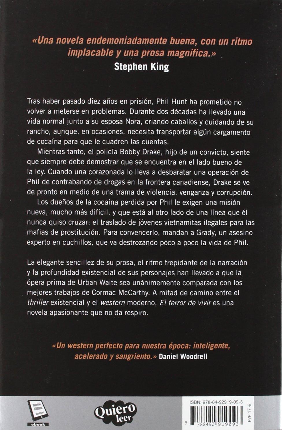 El terror de vivir (Spanish Edition): Urban Waite: 9788492919093:  Amazon.com: Books