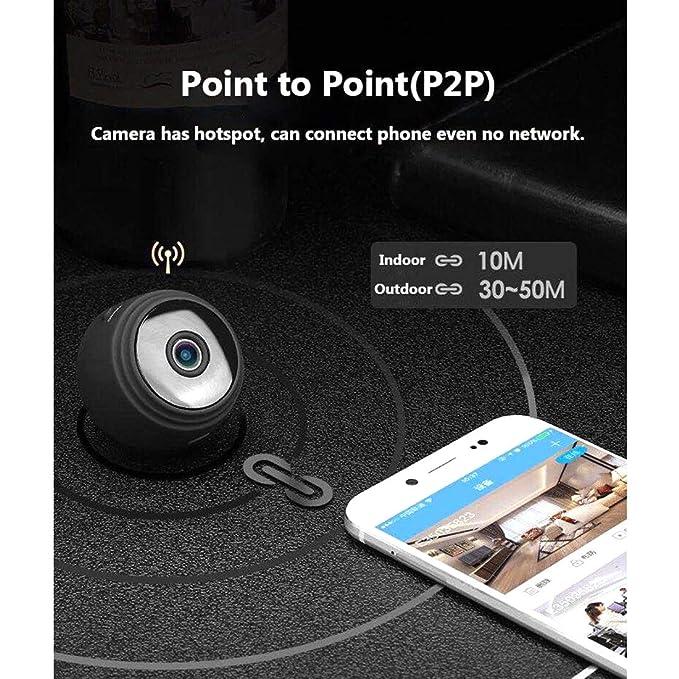 Amazon.com: Mini cámara inalámbrica, cámaras ocultas para ...
