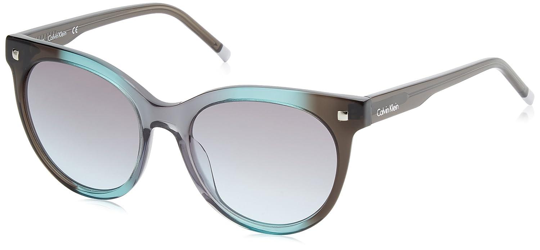 Calvin Klein Cat Eye Gafas de sol, Verde, 56 para Mujer ...