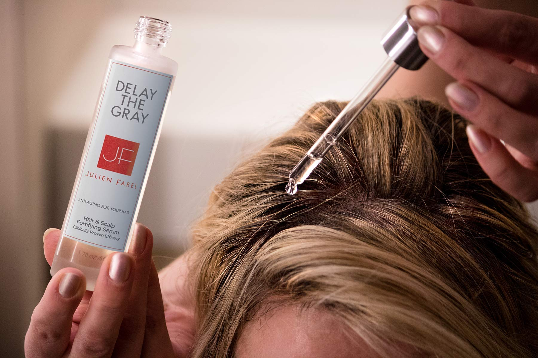 Julien Farel Magnifique Delay The Grey Hair & Scalp Serum, 1.7 Fl Oz – SLS & Paraben Free – Best for Normal, Fine, Thinning, Damaged and All Hair Types, As Seen on The View by Julien Farel Products (Image #2)