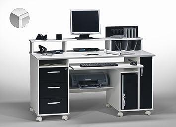 Matelpro bureau informatique contemporain blanc noir andria