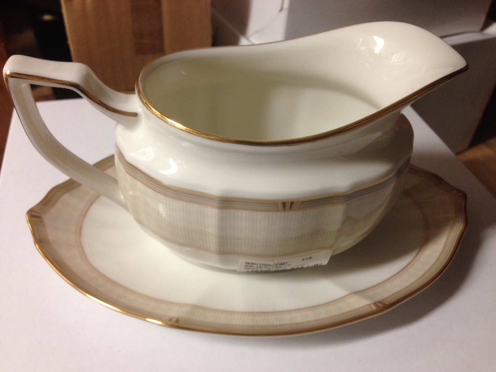 Noritake Golden Helix Gravy with Stand