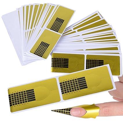 200pcs Guías Uñas Pegatinas Moldes para Extensión de Uñas de Acrílico / Gel Auto Adhesiva