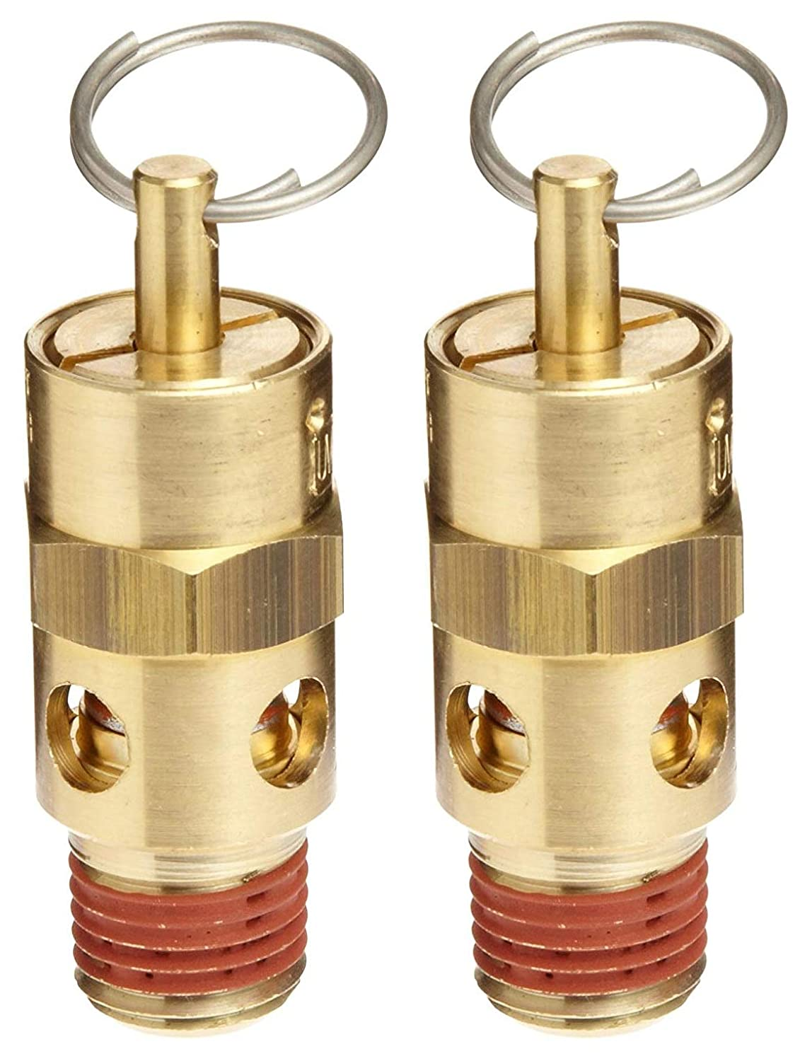 Control Devices ST Series Brass ASME Safety Valve, 200 psi Set Pressure, 1/4