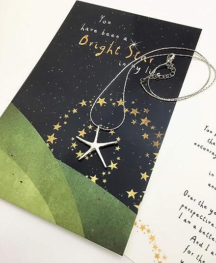 Amazon Com Smiling Wisdom Star Necklace Bright Star In