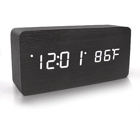 Reloj Despertador Digital De Madera, ConfiguracióN De 3 ...