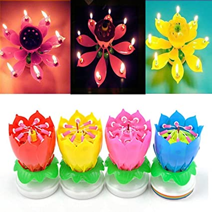 Amazoncom 4 Pack Birthday Candles Cake Topper Candle Music Candle