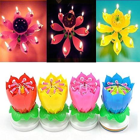 4 Pack velas de cumpleaños Decoración para tarta para vela ...