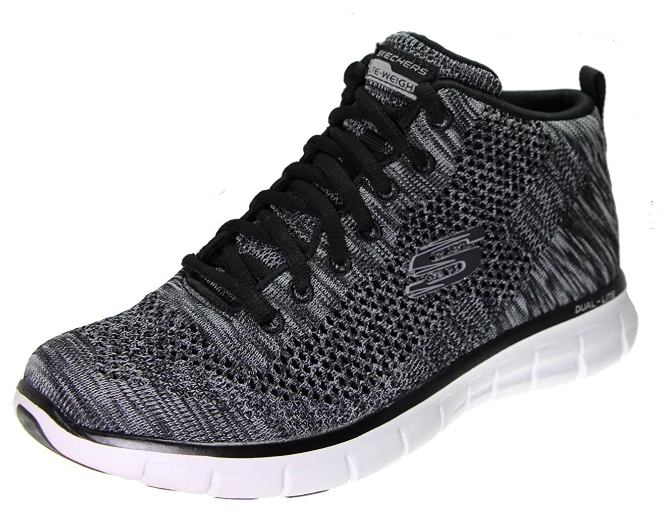 [スケッチャーズ] SKECHERS BURST- DIVERGENT B079W33PSP 7 B(M) US|Black Knit/White Black Knit/White 7 B(M) US