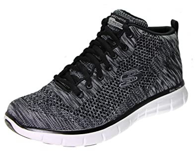 Skechers Synergy Petal Burst Women's High Top Fashion Sneakers, Black Knit/ White ...
