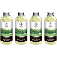 Lemongrass Diffuser Refill 68 oz (4x17oz) - Fresh & Long Lasting Fragrance - Refill Bottle with Natural Essential Lemongrass Oil - Best for Aromatherapy - Reed Diffuser Oil Refill for Home - Office