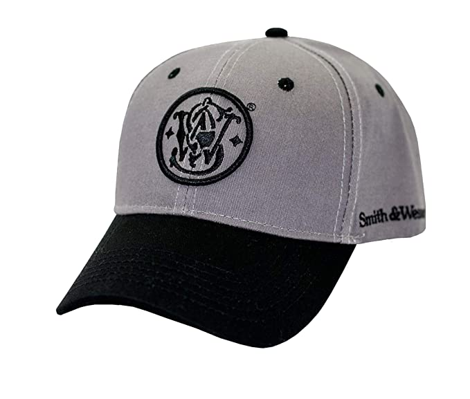 5c0fe421a Smith & Wesson S&W Gray & Black Logo Cap - Officially Licensed