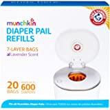 Munchkin Arm and Hammer Diaper Pail Bag Refills 20 Bags, Orange