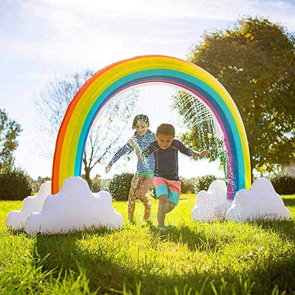 Color : Green YCRCTC Inflatable Water Spray Toy Childrens Inflatable Sprinkler Toy Rainbow Yard Safe Large Summer Water Spray For Outdoor Use