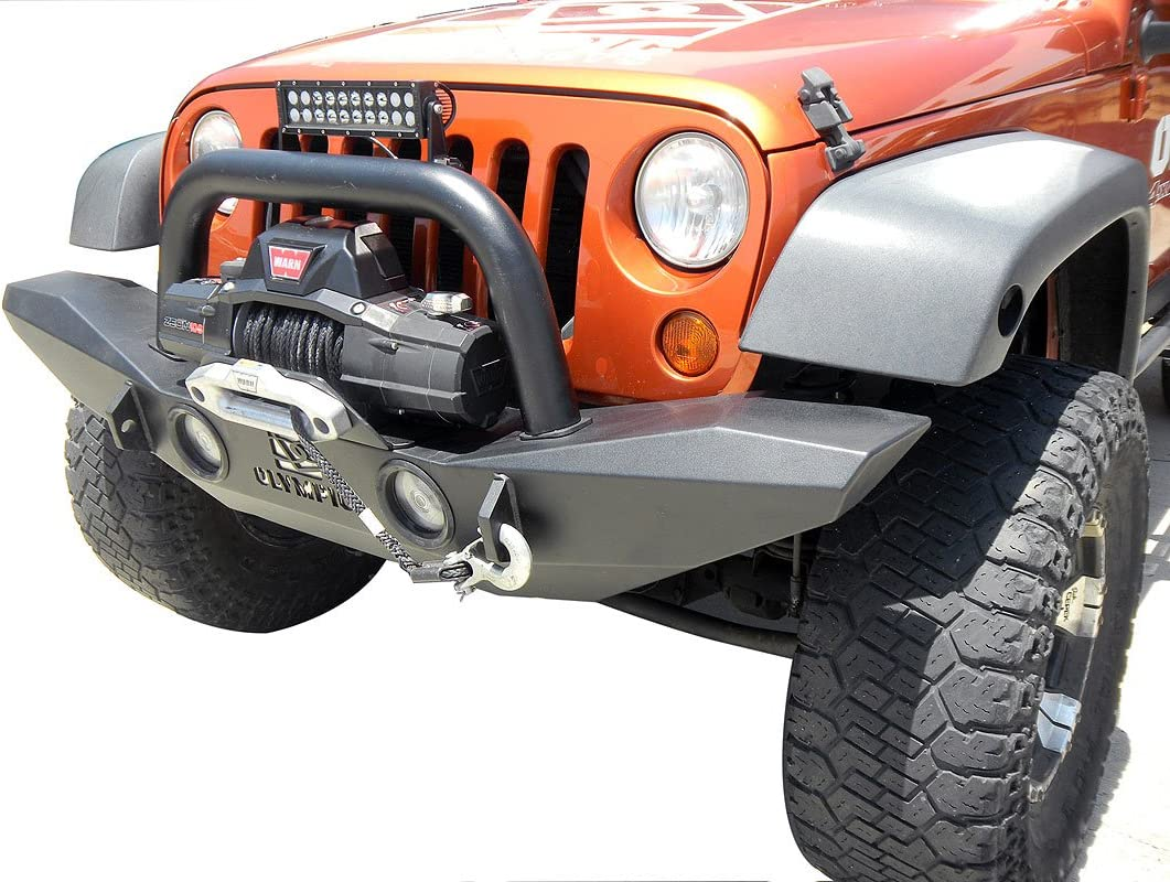 Olympic 4X4 Products 509-174 Texture Black Winch Mount for Phoenix Bumper